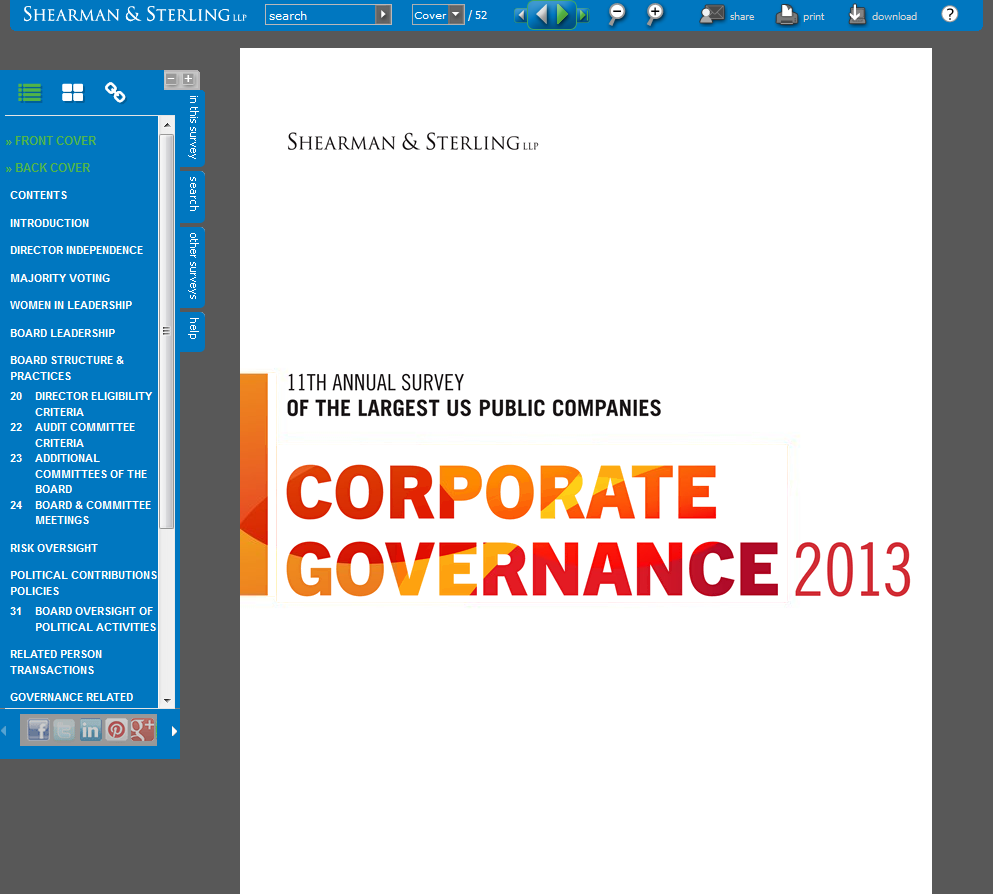 Corporate Governance Microsite