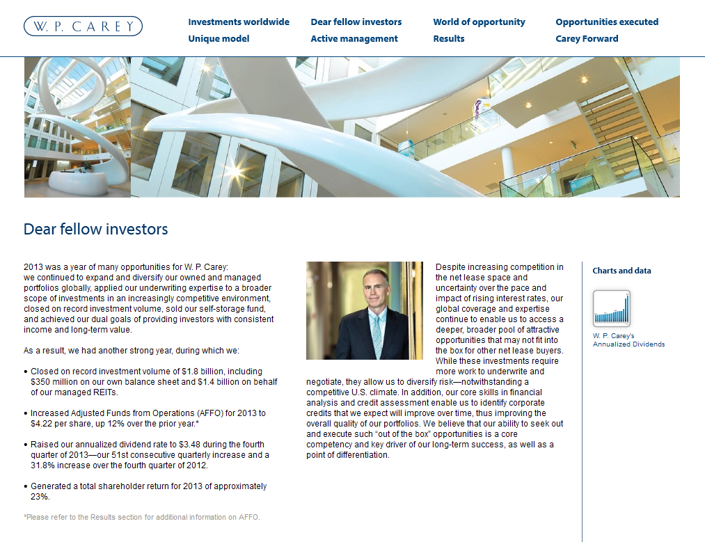 Annual Report Microsite