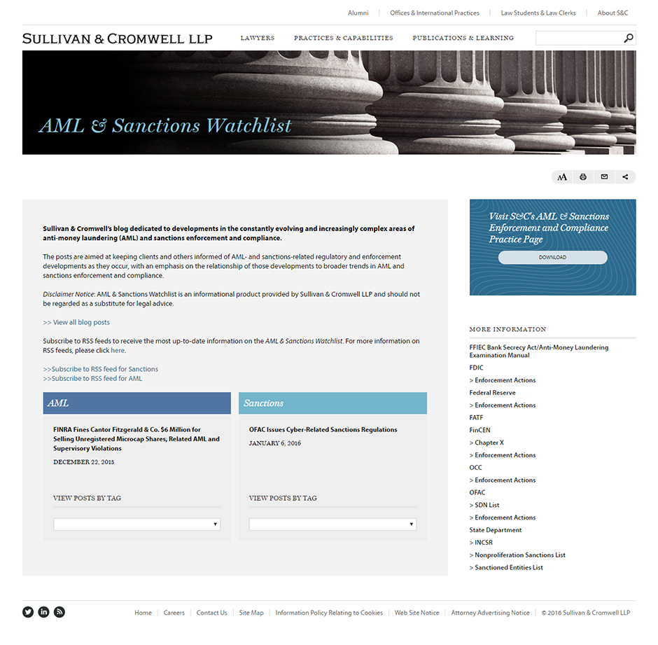 AML & Sanctions Watchlist Blog