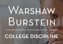 Warshaw Burstein LLP College Discipline Website